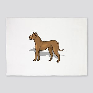 Perro de Presa Canario 5'x7'Area Rug