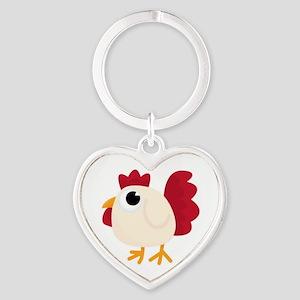 Funny White Chicken Keychains