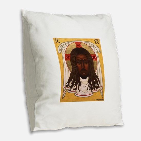 The Lion of Judah Burlap Throw Pillow