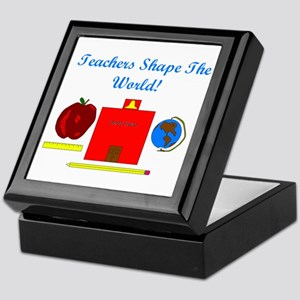 Teachers Shape The World Keepsake Box