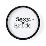 Sexy Bride Wall Clock