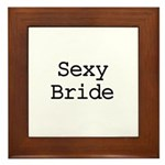 Sexy Bride Framed Tile