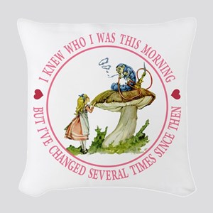 I Knew Who I Was This Morning Woven Throw Pillow