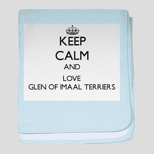 Keep calm and love Glen Of Imaal Terr baby blanket