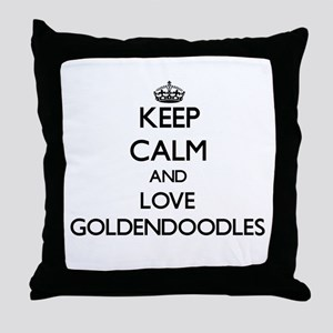 Keep calm and love Goldendoodles Throw Pillow