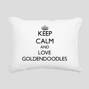 Keep calm and love Golde Rectangular Canvas Pillow