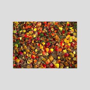 Fall Leaves Autumn Colors 5 X7 Area Rug