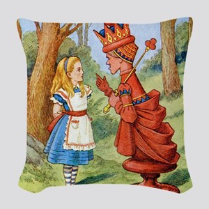 Alice The Red Queen_SQ Woven Throw Pillow