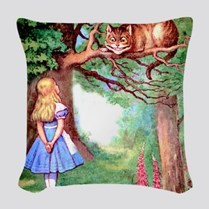 ALICE_12_SQ Woven Throw Pillow
