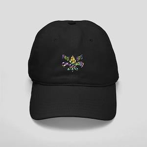 Mardi Gras Fleur Baseball Hat Black Cap