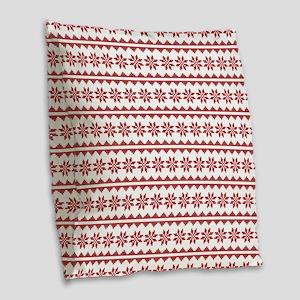 Christmas Sweater Cross Stitch Burlap Throw Pillow