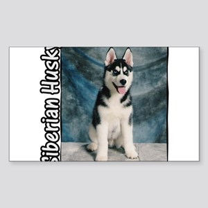 Siberian Husky Puppy Rectangle Sticker