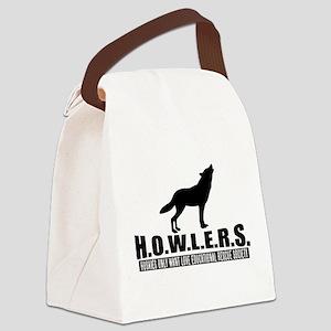H.O.W.L.E.R.S. Logo Canvas Lunch Bag