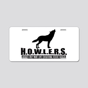 H.o.w.l.e.r.s. Logo Aluminum License Plate