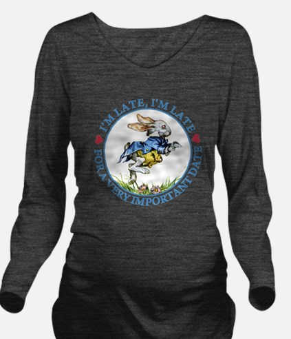 alice RABBIT im late2 BLUE copy.png Long Sleeve Ma