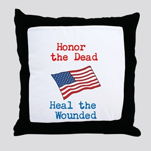 Honor the dead Throw Pillow