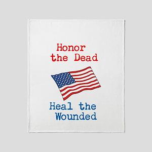 Honor the dead Throw Blanket