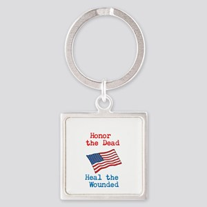 Honor the dead Square Keychain
