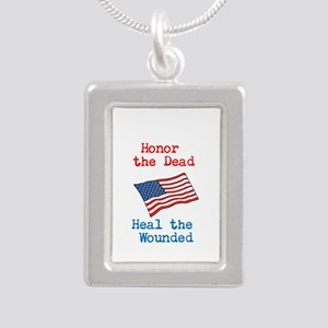 Honor the dead Silver Portrait Necklace