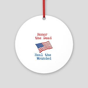 Honor the dead Ornament (Round)