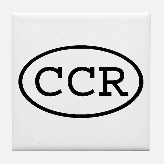 CCR Oval Tile Coaster