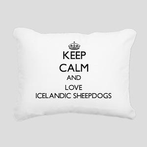 Keep calm and love Icela Rectangular Canvas Pillow