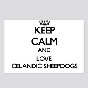 Keep calm and love Icelan Postcards (Package of 8)