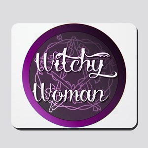 Witchy woman with pentacle Mousepad