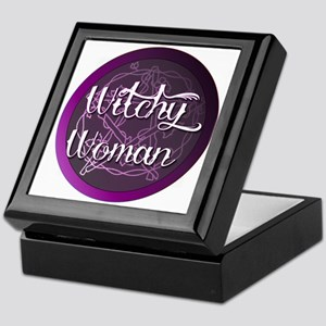 Witchy woman with pentacle Keepsake Box
