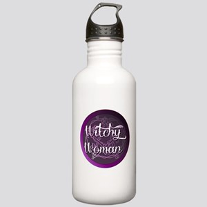 Witchy woman with pentacle Water Bottle