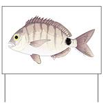 Spottail Bream Pinfish Yard Sign