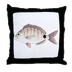 Spottail Bream Pinfish Throw Pillow