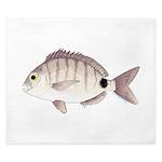 Spottail Bream Pinfish King Duvet