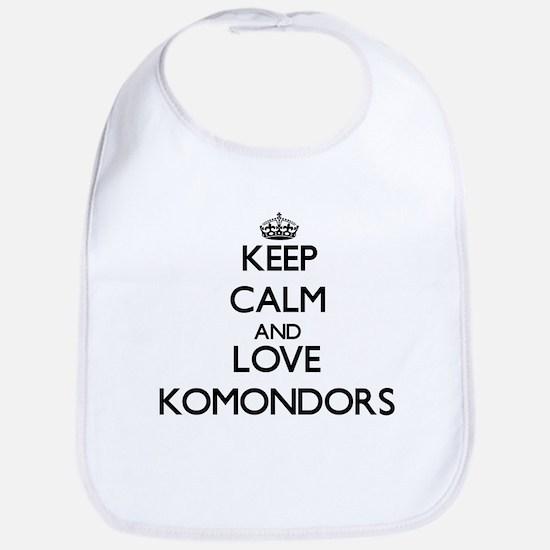 Keep calm and love Komondors Bib