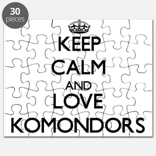 Keep calm and love Komondors Puzzle