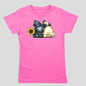 Sunny Pugs Girl's Tee