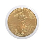 Gold Liberty 1986 Ornament (Round)