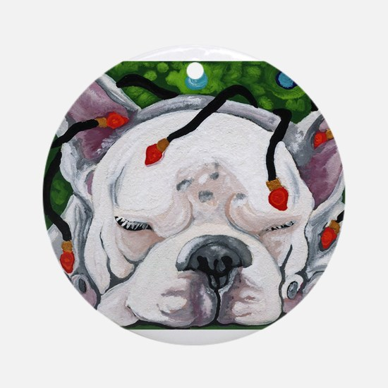 Frenchie Christmas Ornament (Round)