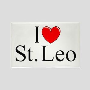 """""""I Love St. Leo"""" Rectangle Magnet"""