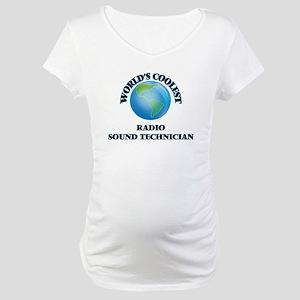 Radio Sound Technician Maternity T-Shirt