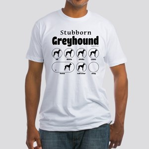 Stubborn Greyhound v2 Fitted T-Shirt