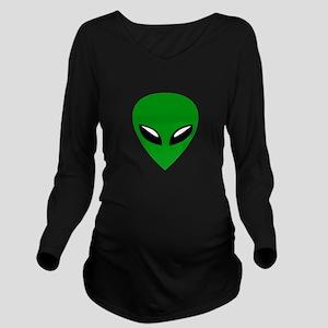 Grey Alien Roswell Long Sleeve Maternity T-Shirt
