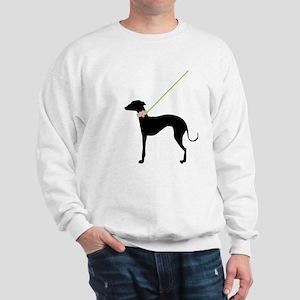 Black Dog w/ Flower Sweatshirt