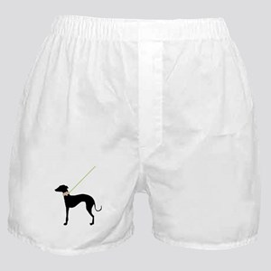 Black Dog w/ Flower Boxer Shorts