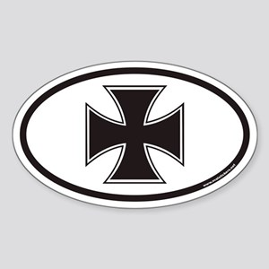 Iron Cross Euro Oval Sticker