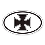 Iron Cross Euro Oval Sticker