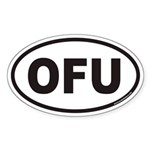 OFU Euro Oval Sticker