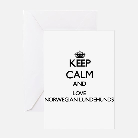Keep calm and love Norwegian Lundeh Greeting Cards