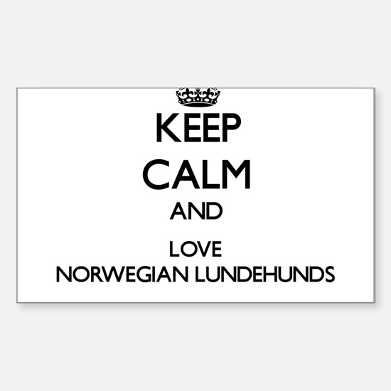 Keep calm and love Norwegian Lundehunds Decal