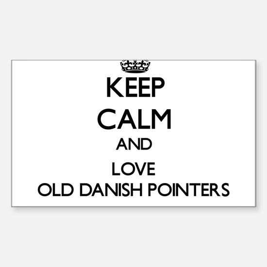 Keep calm and love Old Danish Pointers Decal